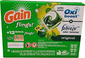 Gain GAIN Flings Original <b>Scent</b> (132Count), <b>104</b> Oz: Amazon.com ...