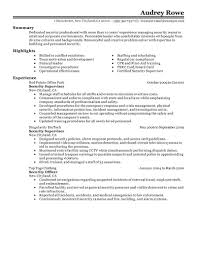 best security supervisor resume example livecareer choose