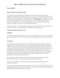 cover letter interest template cover letter interest