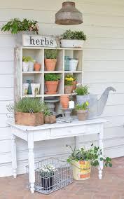 Farmhouse <b>Style</b> Potting <b>Bench</b> | Potting <b>bench</b>, Deck designs ...