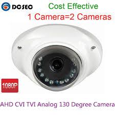 HD 2MP 1080P <b>Mini</b> Analog CCTV Bullet Camera Wide <b>Angle 180</b> ...