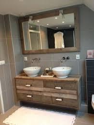 Image result for badkamermeubel steigerhout zelf maken