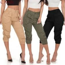 Hirigin <b>2019 Summer Autumn</b> Ladies 3/4 Trousers Women's Three ...