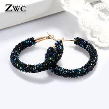 ZWC <b>Vintage</b> Korean Big <b>Earrings</b> for <b>Women Female Fashion</b> Gold ...