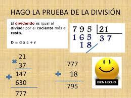 Resultado de imagen de la división con dos cifras en el divisor