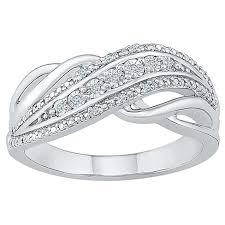 Diamond Accent Round <b>White Diamond Fashion</b> Ring In Sterling ...
