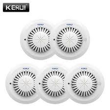 KERUI <b>5pcs</b> SD03 Voice Prompts High Sensitivity <b>Fire Smoke Alarm</b> ...