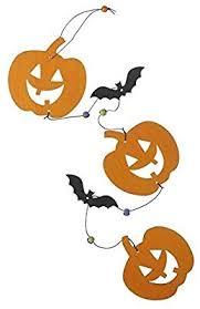 <b>Wooden Pumpkin Halloween</b> Hanging Garland Decoration: Amazon ...