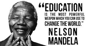 Nelson Mandela's quote on education