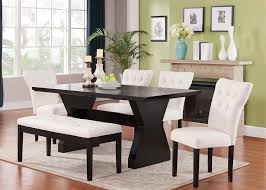 dining table parson chairs interior: efie espresso finish dining table red linen parson chairs
