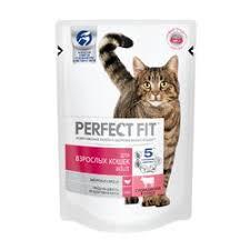 Паучи <b>Perfect Fit Adult для</b> взрослых кошек с говядиной в соусе ...