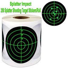 "Splatter Target Stickers (Qty <b>250pcs 3</b>"") Adhesive Splatter Target ..."