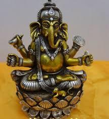 Free shipping 003746 <b>Tibetan Buddhist bronze silver GANESHA</b> ...