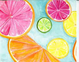 Lemon And Lime Kitchen Decor Citrus Watercolors Paintings Ruby Red Grapefruit Lemon Orange
