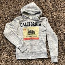 Passion-I Tops | <b>Passioni</b> California Republic Grey <b>Hoodie</b> Sz S ...