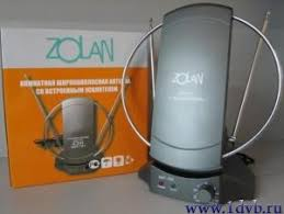 <b>ZOLAN</b> ANT-701 (<b>Комнатная антенна</b> с усилителем)