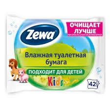 <b>Влажная туалетная бумага</b> ZEWA KIDS <b>Детская</b>, 42 шт — купить ...