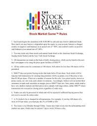 smg teachers guide   the stock market gamestock market game™ rules