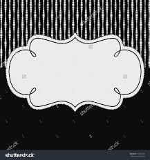 simple black white invitation template stock illustration simple black and white invitation template