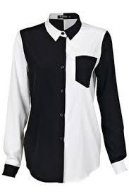 <b>Black</b> and <b>White</b> Symmetric Shirt | <b>Black</b>, <b>white</b> tops, <b>Black</b>, <b>white</b> ...