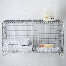 <b>Wire Mesh Storage</b> - <b>Hanging</b> Double Shelf | west elm