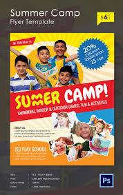 summer camp flyer jpg psd esi indesign trendy kids summer camp flyer template