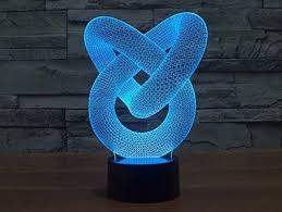iwish 3D <b>LED Night Lamp</b> 7 Colors Changing Magical 3D Illusion ...