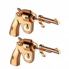 [41% OFF] 2020 <b>Trend Street Fashion Pistol</b> Piercing Earrings ...