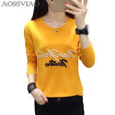 Cartoon <b>Embroidery</b> Autumn T shirt <b>Women</b> New Fashion Simple ...