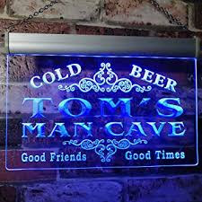 Tom's Man Cave Beer Ale Bar <b>Custom</b> Personalized Name Neon ...