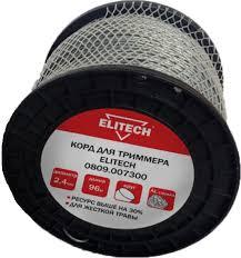 Купить <b>Леска для триммера ELITECH</b> 0809.007300 2.4мм, 96м ...