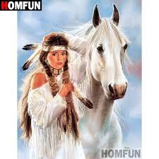 "<b>HOMFUN 5D DIY Diamond</b> Painting Full Square/Round Drill ""Indian ..."