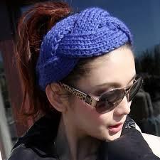 1 шт. зимняя красивая модная вязаная резинка <b>повязка</b> на голову ...