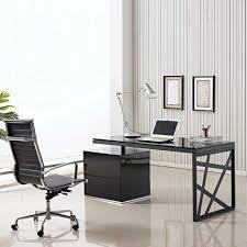 large size of desk stylish modern office desks rectangle shape glass table top black lacquer amusing black office desk