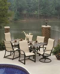 comfortable patio chairs aluminum chair: key west sling with rectangle cast aluminum table