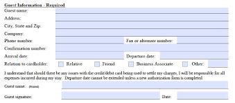 marriott credit card authorization form template pdf marriot credit card authorization form guest information