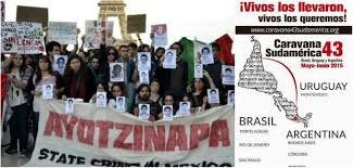 Resultado de imagen para recorrido de familiares de ayotzinapa por uruguay y argentina