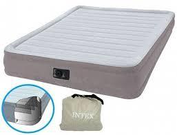 <b>Intex Кровать Comfort</b>-<b>Plush</b> Mid Rise Queen, флок со встроенным ...