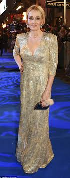 j k rowling looks younger than ever at fantastic beasts premiere the harry potter author dazzled in a jenny packham gown at the fantastic beasts premiere