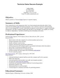 Technical Resume Samples  resume for information technology career     happytom co salesperson resume example resume template for s position template       technical resume samples