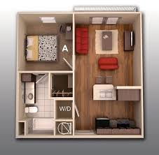 """ideas about Bedroom House Plans on Pinterest   One Bedroom     One """" """" Bedroom Apartment House Plans"""