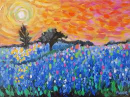 Etsy Art Texas Bluebonnet Painting Art Original Impressionist Landscape