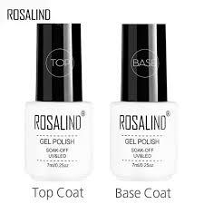 Гель-лак ROSALIND, 7 мл, блестящий УФ-лак, <b>верхнее и базовое</b> ...