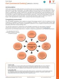 fact sheet chef commercial cookery