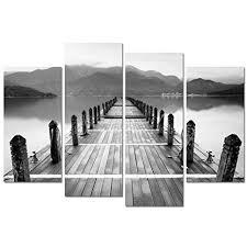 Sea Charm- Black and White Landscape Wall Art ... - Amazon.com