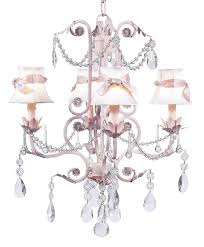 chic pink chandelier with white shades and pink sashes chic pink chandelier pink