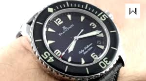 Blancpain Fifty Fathoms 5015-1130-52 Luxury Watch Review ...