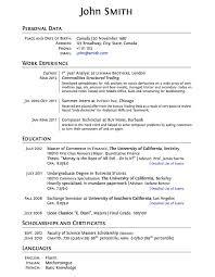 latex templates » curricula vitae résumésplasmati graduate cv