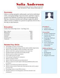 high school resume template samples     grocery store application resume