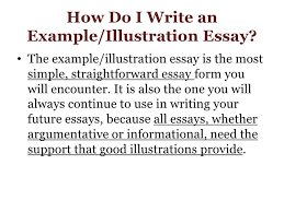 example essay for week the example or illustration essay lt br   gt